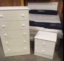 4 Piece Twin, Full Or Queen Size Bedroom Set