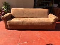Brown Fabric Sofa Day Bed Futon in Excellent Condition! Miami, 33175
