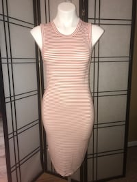 white and black stripe sleeveless dress Muncie, 47304