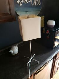 gray metal base table lamp with brown lamp shade Portugal Cove-St. Philip's, A1M 1E6