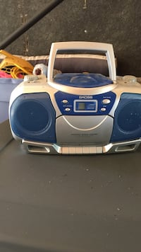 blue and gray Koss boombox Covert, 49043