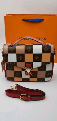 DESIGNER HANDBAG - New Checker Design! Gift bag included!