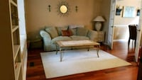 "52""x29"" solid real marble coffee table/ matching 2 Easton, 18045"