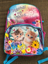 NWT Childs Backpack With Matching Lunch Bag Jackson, 08527