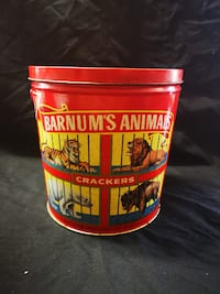 Vintage Barnum's Animals Crackers Tin from 1991 Nabisco
