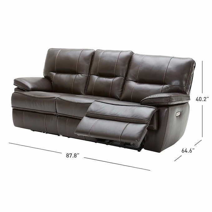 Reclining Leather Couch 2