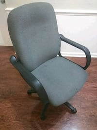 gray and black rolling armchair Lakeland