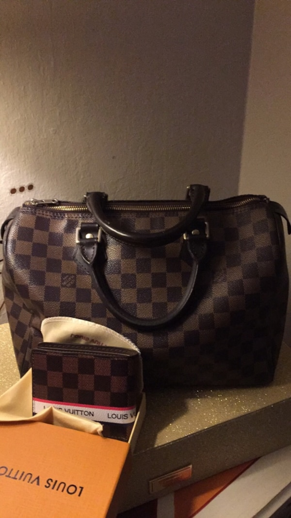 10ab0cac2c20 Used Damier Ebene Louis Vuitton leather tote bag for sale in Redwood City -  letgo