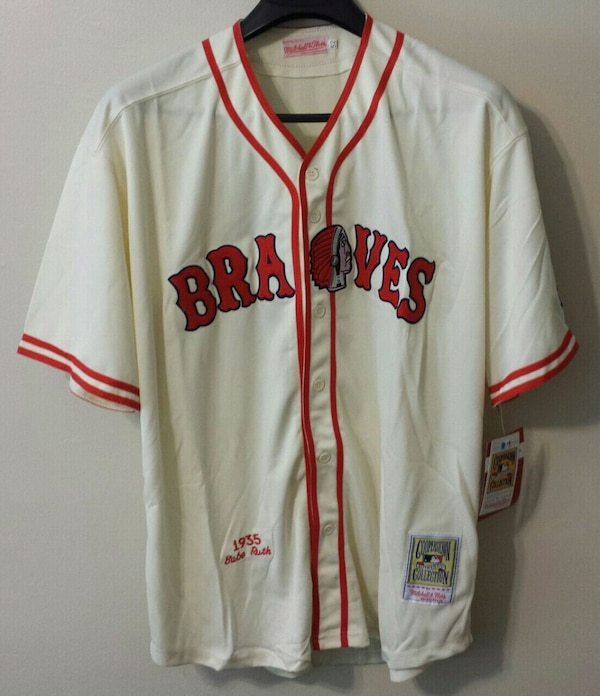 premium selection d1572 efb73 Babe Ruth 1935 Boston Braves Jersey