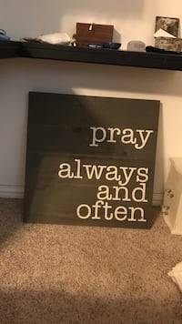 Pray Always and Often text printed wall art decor Farmers Branch, 75244