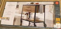 Derry Stone Top Mixed Material Kitchen Island Brown Charlotte, 28273