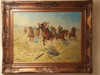 Must see. Amazing Original X-Large And Heavy Oil On Canvas. Signed G.Freemen Mississauga, L4W