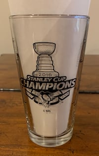 Pittsburgh Penguins 2016 Stanley Cup Champions Pint Glass Carnegie, 15106