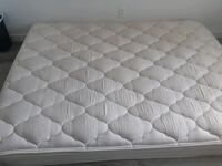 Pillow top mattress and box spring no head and foot board