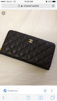 quilted black Chanel leather long wallet San Diego, 92105