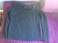 Childrens large cable knit sweater  2224 mi