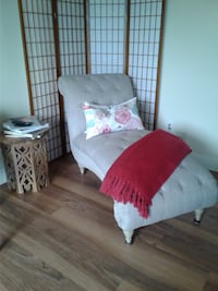 Oat colored chaise lounge.  Linen like upholstery.  Just a few months old!  Excellent condition! By itself $250 College Park