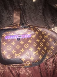 black and brown Louis Vuitton leather handbag Washington, 20024