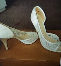 white lace peep toe pumps Mankato, 56001