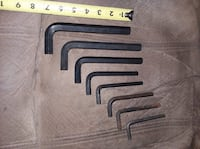 "8 large allen tools wrenches. Biggest fits 5/8"" and 7 in long Scott City"