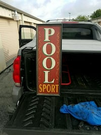 Pool wall sign