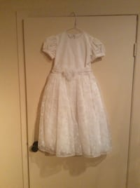 Little girls off white dress , size 6