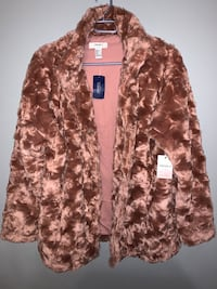 Forever 21 faux fur rose jacket size small