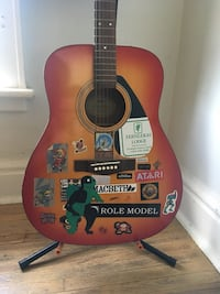 Acoustic guitar, stand and more