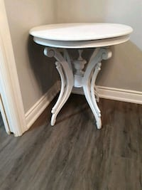 round white wooden side table Vaughan, L4L 9S6
