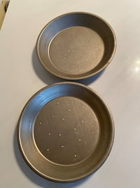Tin pie plates with perforations