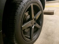 LIKE NEW 20 INCH KMC MATTE BLACK WHEELS / TIRES Alexandria, 22304