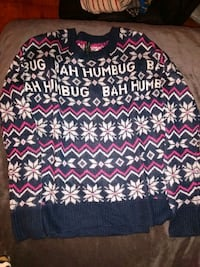 CHRISTMAS BAH HUMBUG SWEATER (junior) p Oxon Hill, 20745