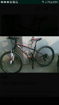 Black hardtail mountain bike captura de pantalla Salou, 43840
