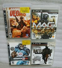 PS3 Games Lot 4 Hyattsville, 20783