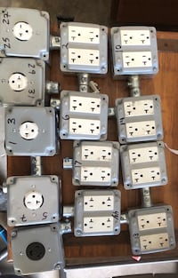 Electrical junction boxes with covers and conduits Woodbridge, 22191