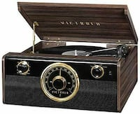 Victrola 6-in-1 Wood Bluetooth Mid Century Record Player with 3-Speed  Toronto