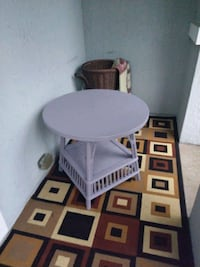 round repainted wooden side table Jacksonville, 32225