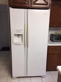 white side-by-side refrigerator with dispenser BETHESDA