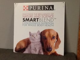 Purina Dog & Cat Sign, 2 Sided