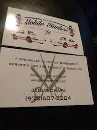 mobile barber for and disabled Irving