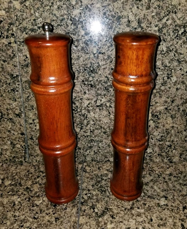 New Tags Large 10 Bamboo Wood Pepper Mill Salt