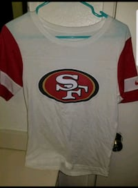 white and red San Francisco 49ers jersey Highland, 92346
