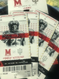 4 football tickets with parking pass WASHINGTON