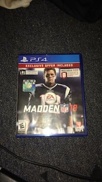 Sony PS4 EA Sports Madden NFL 18 case Saint Charles, 63301