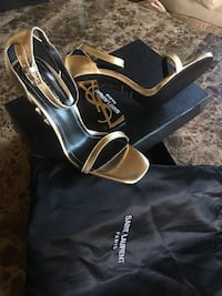 Gold ysl heel new  HALLANDLE BCH, 33008