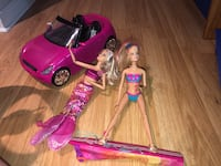 Barbie Car and 2 dolls Beaconsfield, H9W 3T3