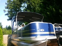 blue and white camper trailer Riverdale, 30296