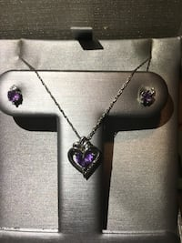 Zales white gold and amethyst necklace and earring set Lodi, 95242