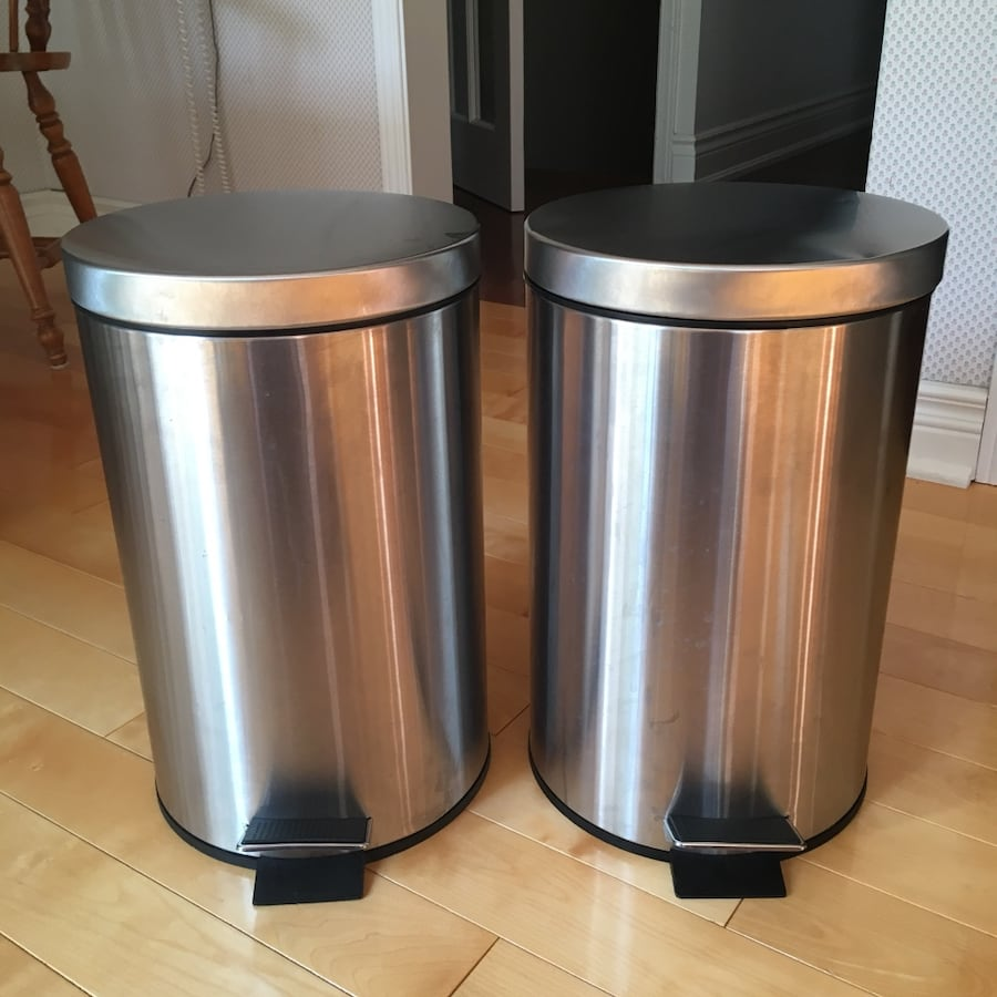IKEA STRAPATS 12L Stainless Steel Pedal Trash Bins *1 left*