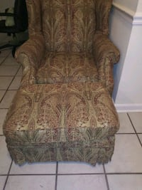 brown and green floral fabric sofa chair Silver Spring, 20906